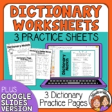FREE Dictionary Worksheets with Answer Keys