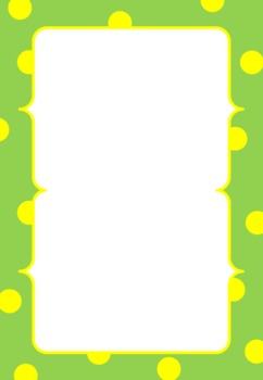 {FREE!} Dotty Frames/Borders