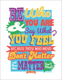 Dr Seuss - Be Who You Are Poster