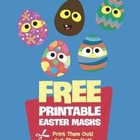 FREE Easter Egg Masks