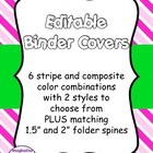FREE Editable Binder Covers - Complementary Colours