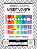 FREE Editable Shaded Chevron Binder Covers {Personal Use Only}
