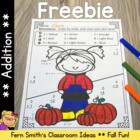 FREE Fall Fun! Basic Addition Facts - Color Your Answers P