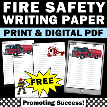 Fire Truck Writing Paper Border