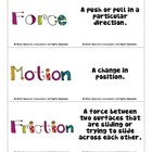 FREE Force & Motion Vocabulary Flashcards