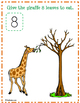 FREE Giraffe Play Dough Counting Mats