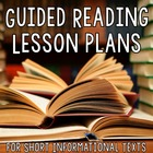 {FREE} Guided Reading Plans for Short Nonfiction Reading Passages