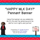 "FREE ""HAPPY MLK DAY!"" Chevron Pennant Banner"