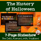 FREE Halloween PowerPoint Activity: The History of Halloween