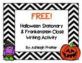 FREE! Halloween Stationary & Frankenstein Adjectives Close