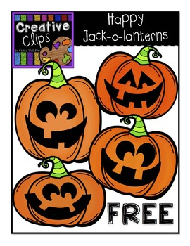 {FREE} Happy Jack-O-Lanterns {Creative Clips Digital Clipart}