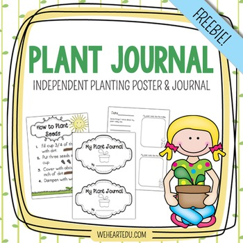 FREE How To Plant Seeds - Poster and Plant Journal
