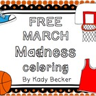 FREE March Madness Coloring Pages by Kady Did Doodles