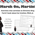 FREE March On, Martin! Reading Comprehension and Writing A