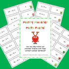 FREE Merry Monsters Math Facts Center!