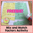 FREE: Mix and Match Factors