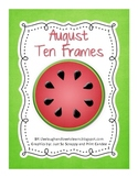 FREE Monthly Ten Frames--August watermelon