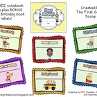 {FREE} Notebook or Folder and Birthday Book Labels