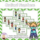 FREE Ordinal Numbers mini display and desk stand ups