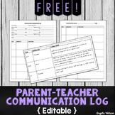 FREE Parent-Teacher Communication Log: Forms for Documenti