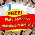 FREE Plate Tectonics Vocabulary Activity!