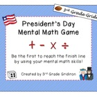 FREE President's Day Mental Math Game