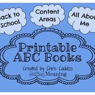 FREE Printable ABC Book- All About Me/ Back to School