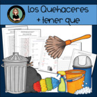 Quehaceres Locos- Mixed Up Chores in Spanish, writing, reading