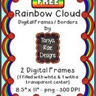 FREE Rainbow Cloud Digital Frames / Borders