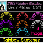 (FREE) Rainbow Sketches Clip Art