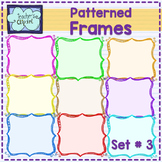 FREE - Rainbow patterned frames - borders {set # 3} - Teac