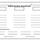FREE Reading Street Amazing Words Graphic organizer