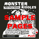 FREE ...  Monster Multiplication Riddles ... FREE {Core 3-5}