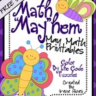 "FREE SAMPLE from Math ""May""hem ~ May Math Printables Color"