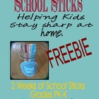 FREE School Sticks PK-K