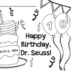 FREE Seuss Birthday 2013 Color Page