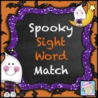 FREE!  Spooky Sight Word Match