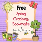 FREE Spring Bookmarks, Reading Chart, and Earth Day Graphing