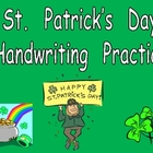 FREE St. Patrick's Day Handwriting Practice- Kindergarten