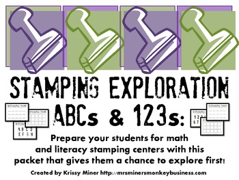 FREE Stamping Exploration Kit-Getting Kinders Ready to Sta