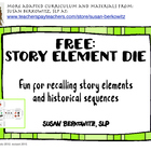 FREE Story Element Die with symbols ELA Special Education