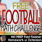 Super Bowl Math Challenge Freebie