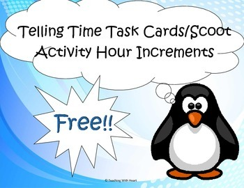 FREE!!! Telling Time Scoot - Hour (Telling Time Task Cards)