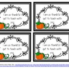 FREE Thanksgiving Thankful Notes {for students and coworkers}