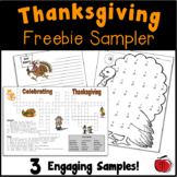 FREE Thanksgiving Worksheets
