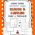 FREE US Northeast Region States & Capitals Maps