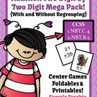 FREE Valentines Day Two Digit By Two Digit Addition Center