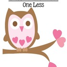FREE! Valentines Subtraction Less One {Minus 1} Center Game