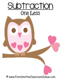 FREE Valentines Subtraction One Less Center Game