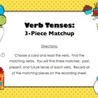 FREE Verb Tenses Matchup (Countdown to Christmas - Day 12)